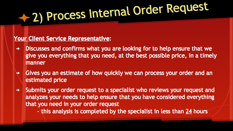 Process Internal Order Request