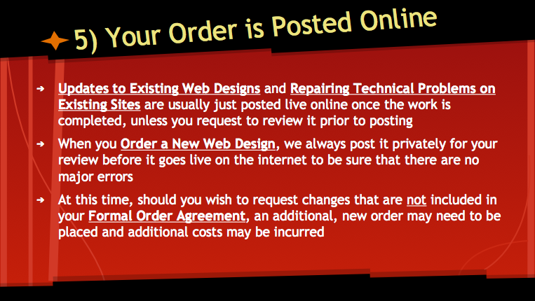Your Order is Posted Online